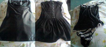 Robe courte en cuir noir, style bustier